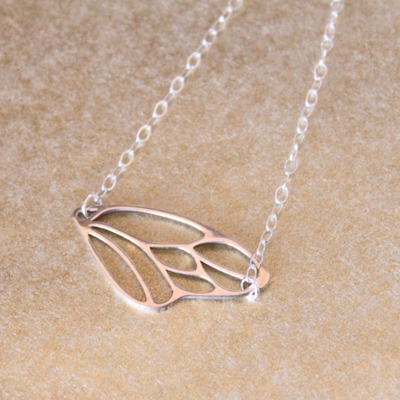 Dragonfly Wing Charm Sterling Silver Chain Bracelet