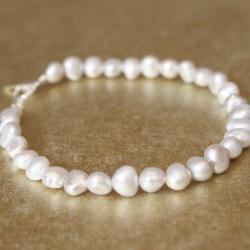 SERENA--Sterling Silver Gray Pearl Bracelet